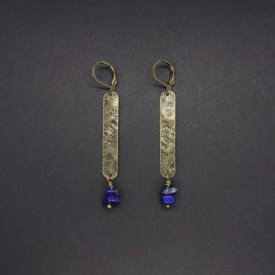 Boucles d'oreilles Artapaon Althaia Lapis lazuli