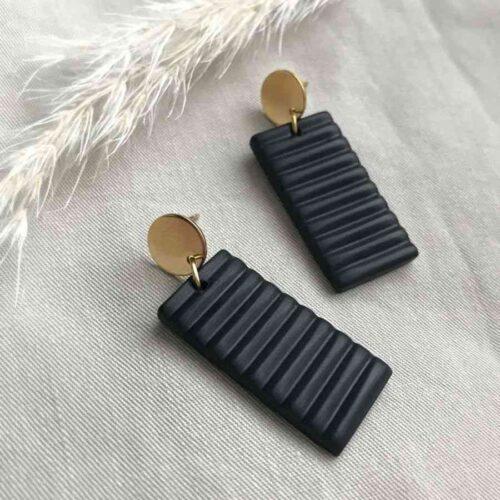 Boucles d'oreilles Lina Rectangle Artapaon 2